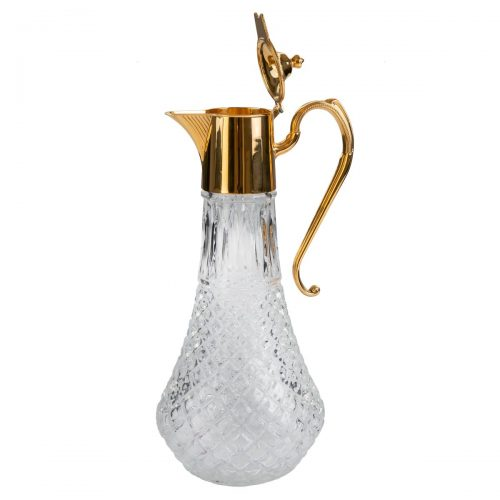 Elite Luxury Gold Plated Glass Decanter