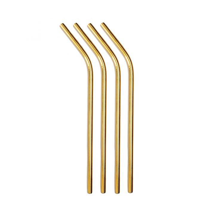 Elite Luxury Gold Plated Straws