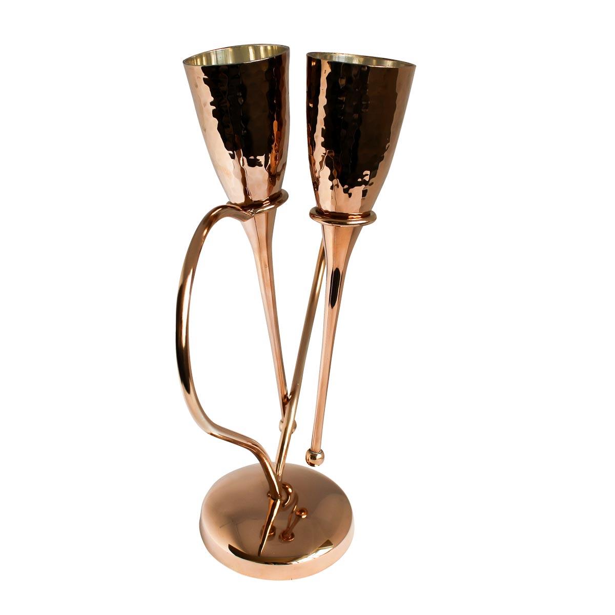 Elite Luxury Wedding Gift Rose Gold Champagne Flutes
