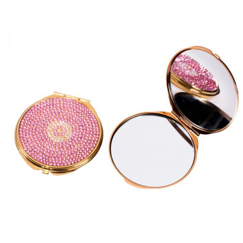 Swarovski crystal compact mirror