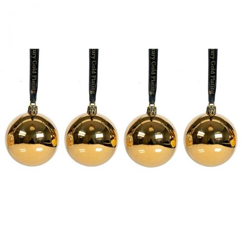 Christmas Baubles 4 Set Gold-EL10