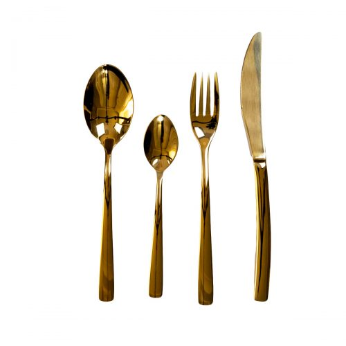 Elite Luxury Gold Plated Cutlery Set