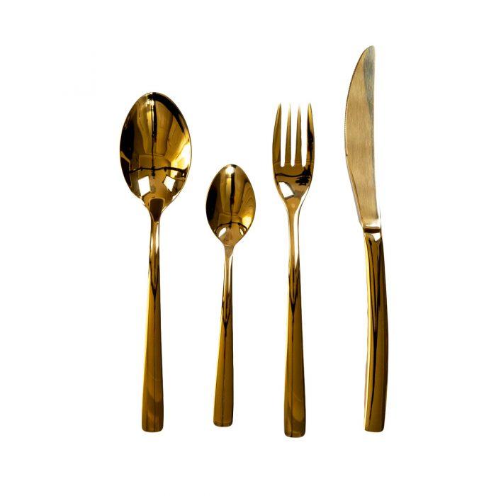 Elite Luxury Gold Plated Cutlery Set