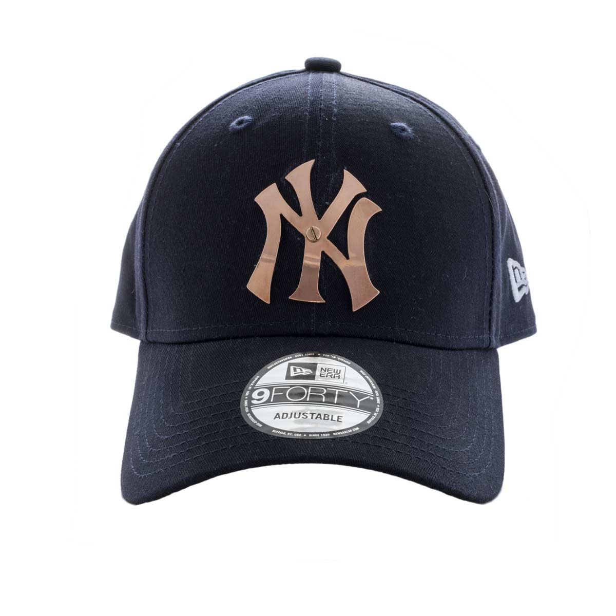 Elite Luxury New York Yankees Cap-Navy-Rose Gold