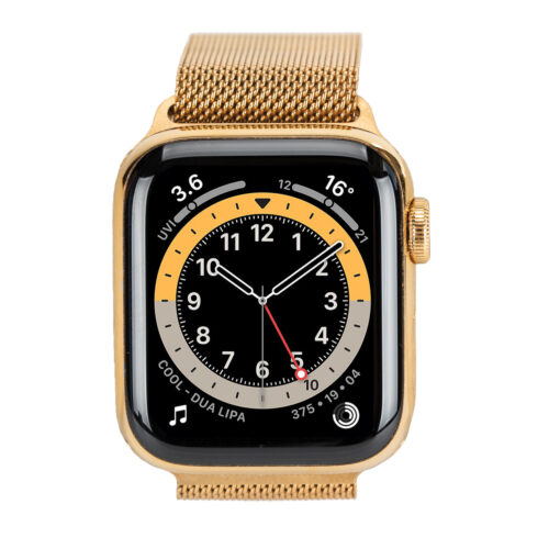 Gold Plated Apple Watch Series 6 with Milanese Loop Strap