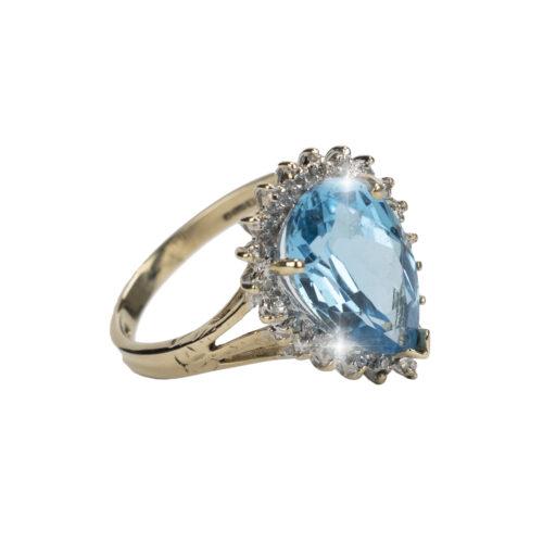 Diamond & Topaz Dress Ring