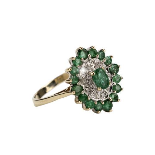 9k-Diamond-&-Emerald-ring