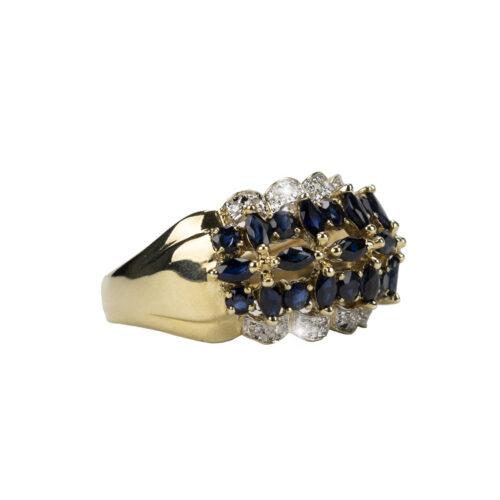 Diamond & Sapphire Dress Ring