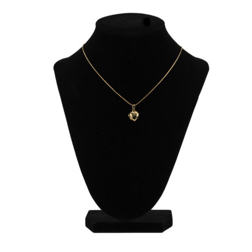 Silver Heart Locket Pendant & Chain