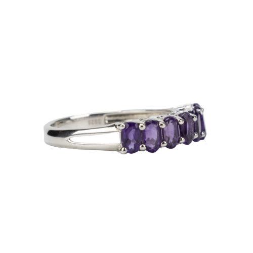 925 Silver Ring-Amethyst Stones